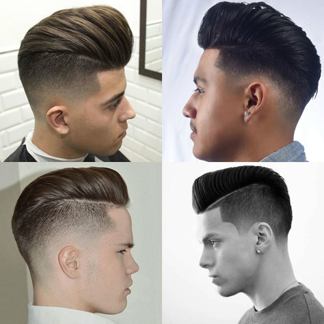 Pompadour Fade Hairstyle1 Mens Haircuts
