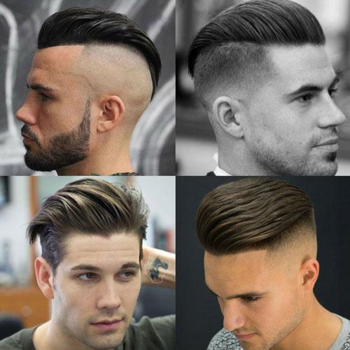 Slicked Back Haircut
