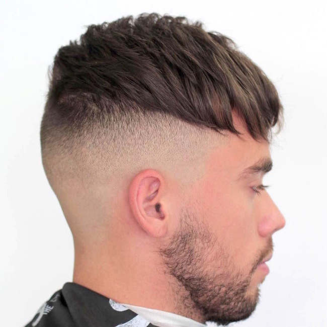 Messy Crop + Bald Fade - Men's haircut