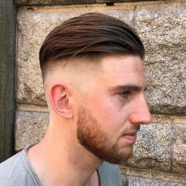 Slicked Back + Bald Fade - Men's Haircuts