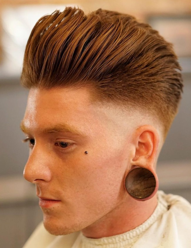 Pompadour Fade - Men's Haircuts
