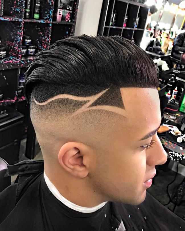 Undercut + Design + Bald Fade - Men's Haircuts