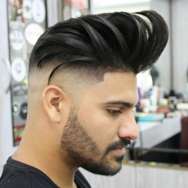 Undercut + Textured Pompadour - Men's Haircuts