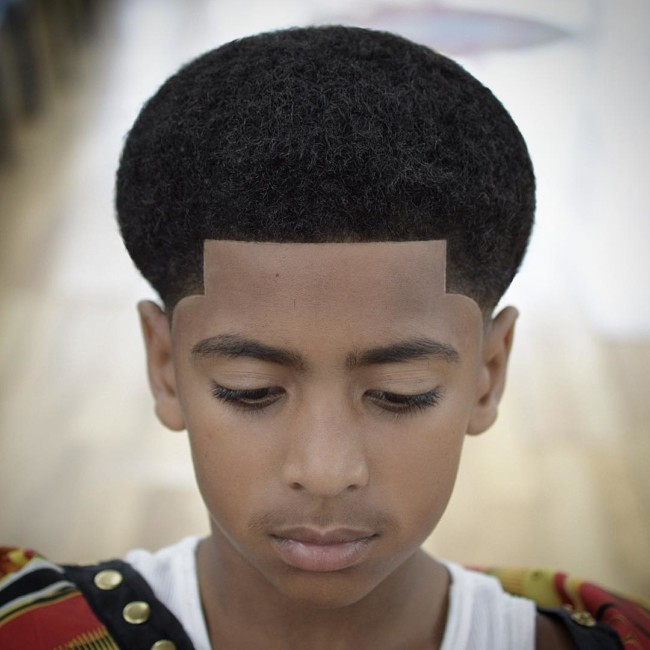 Afro + Line Up - Black Boys Haircuts - Men's haircuts