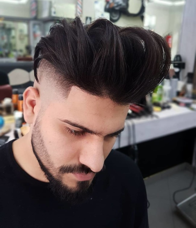 Undercut + Textured Pompadour + Skin Fade - Men's Haircuts