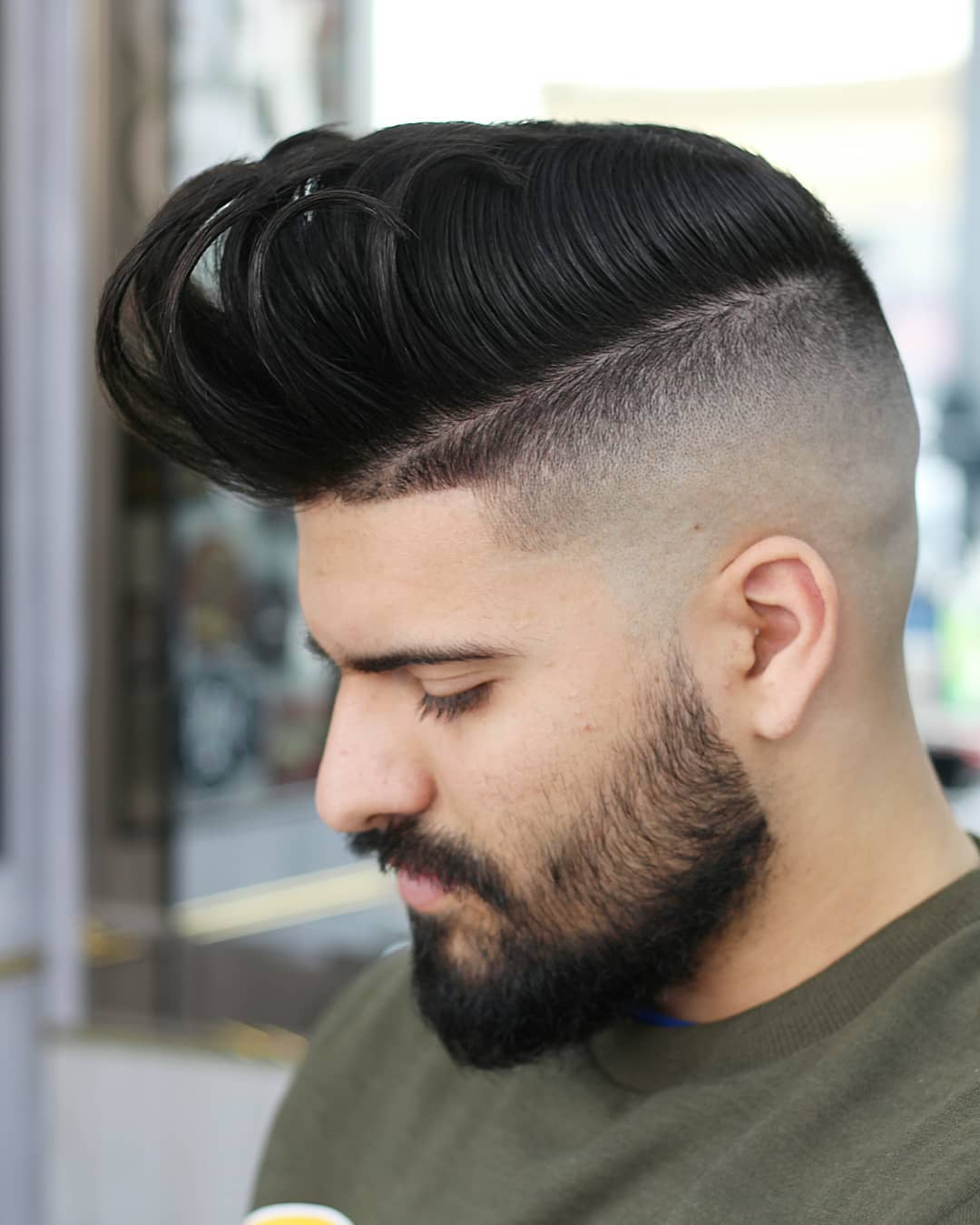 Disconnected Pompadour + Skin Fade - Men's Haircuts