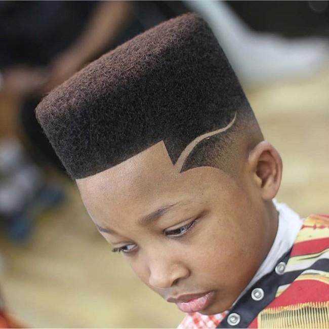 Flat Top + Hard Part + Line Up - Black Boys Haircuts - Men's haircuts