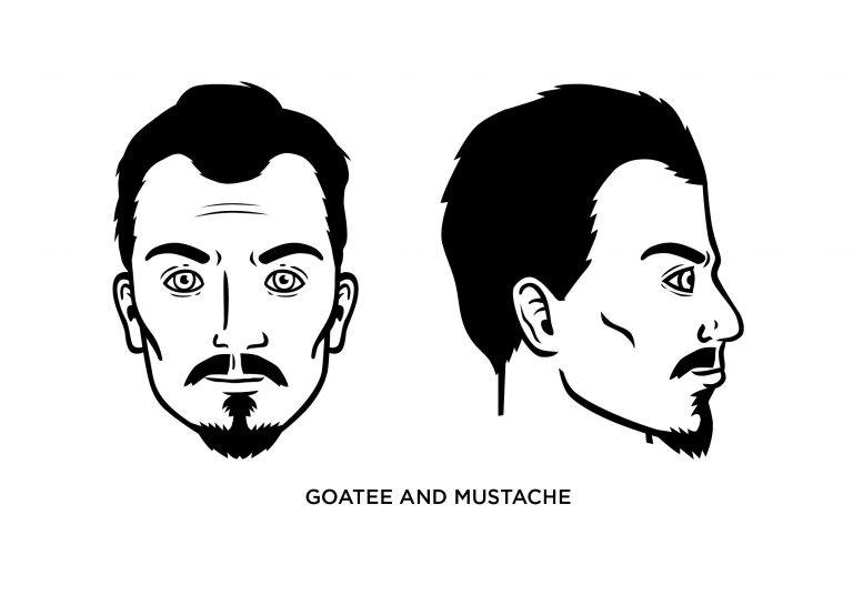 The goatee and mustache - Men's Haircuts