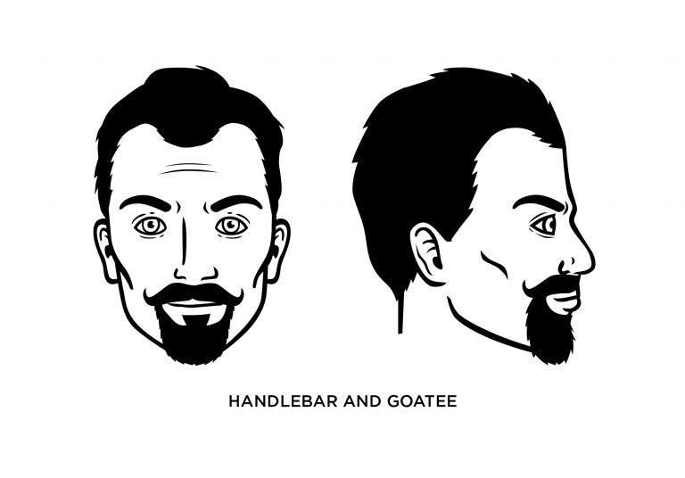 Handlebar + Goatee - Men's Haircuts