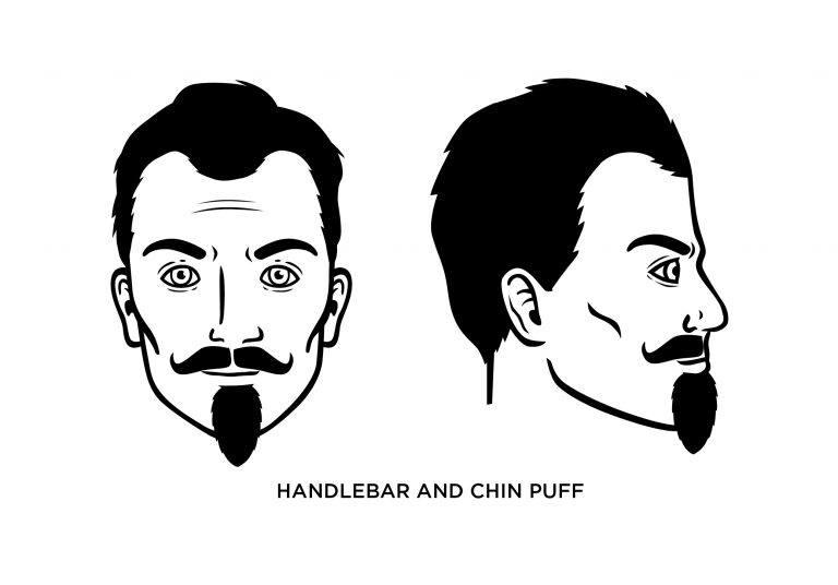 Handlebar + Chin Puff - Men's Haircuts