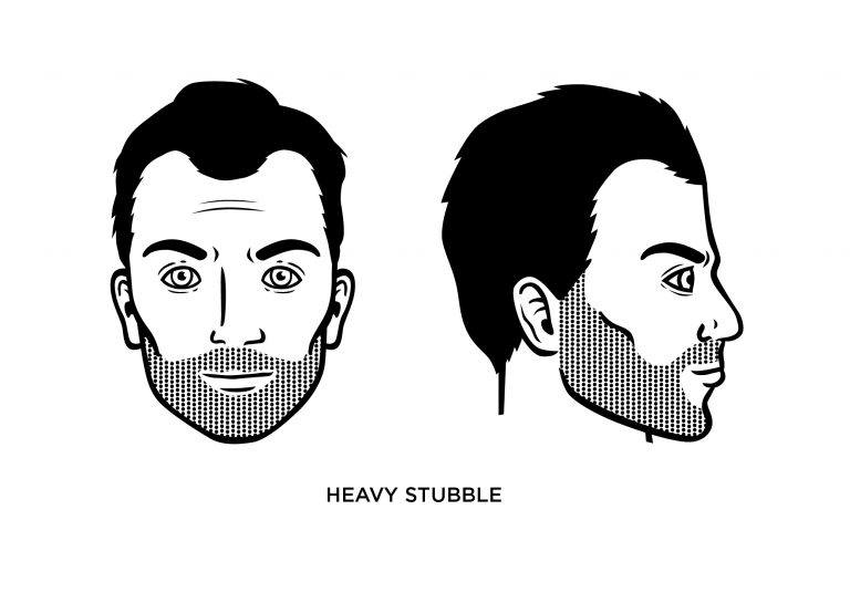 The heavy stubble - Men's Haircuts