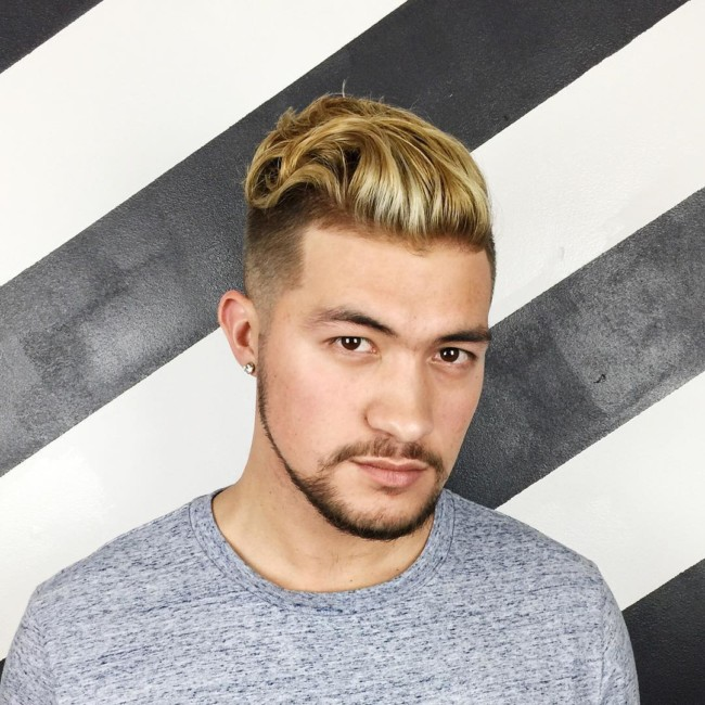 Swept back + Scissor fade - Men's haircuts