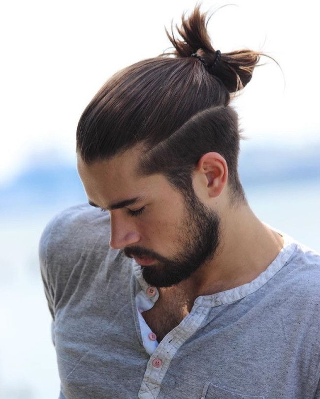 Man bun - men's haircuts