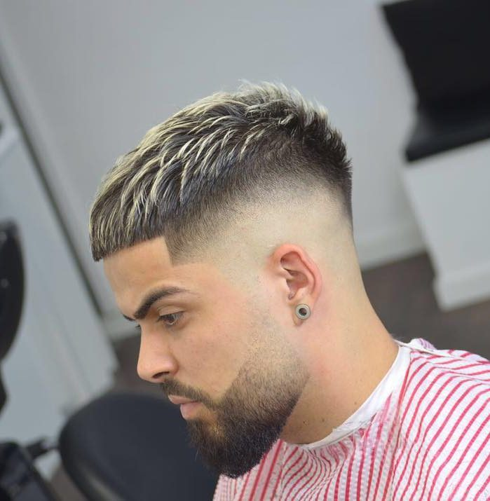 Short textured crop + Mid fade - Men's haircuts