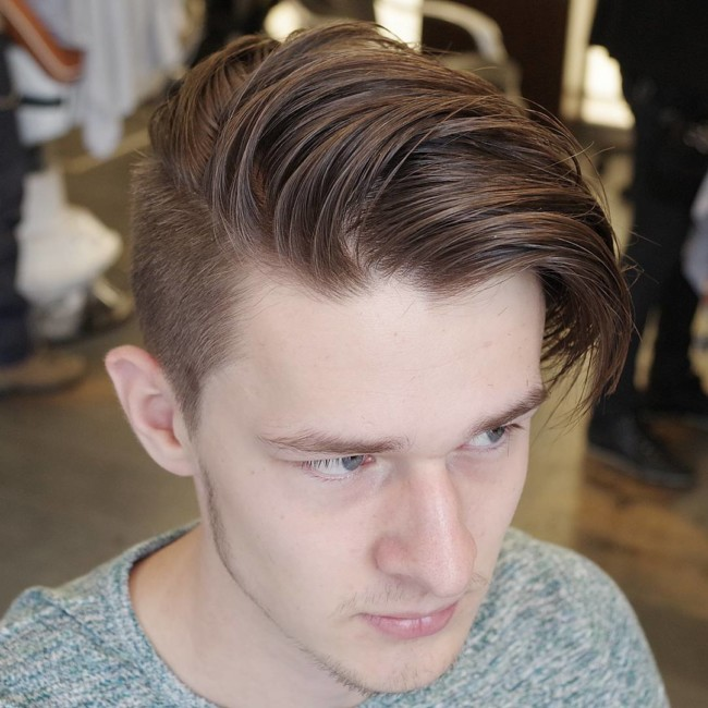 Loose and messy Combover - men's haircuts