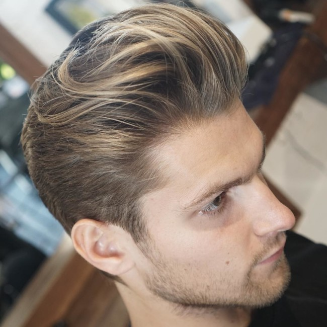 Long Textured Pomp - men's haircuts