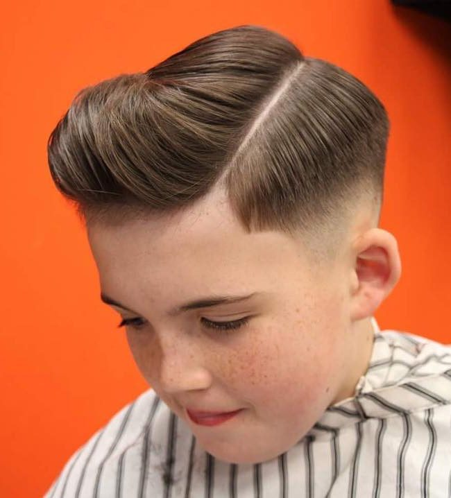 Side Part + Comb Over Pompadour - New Hairstyle for Boys