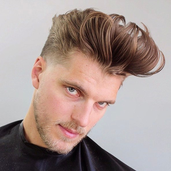Messy Pompadour - men's haircuts