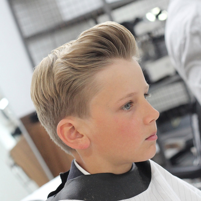 Short Pompadour + Scissor fade - New Hairstyle for Boys