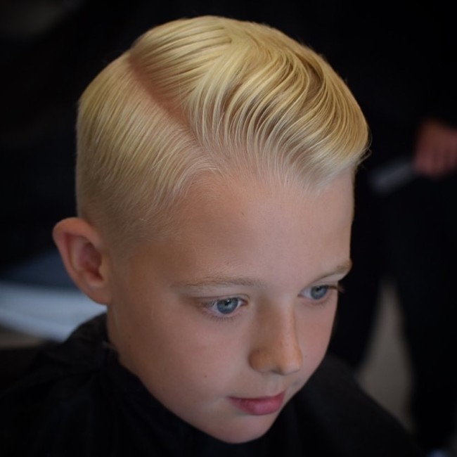 Side Part + Modern Comb Over - New Hairstyle for Boys