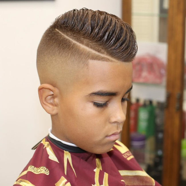 Disconnected Pompadour + Bald fade - New Hairstyle for Boys