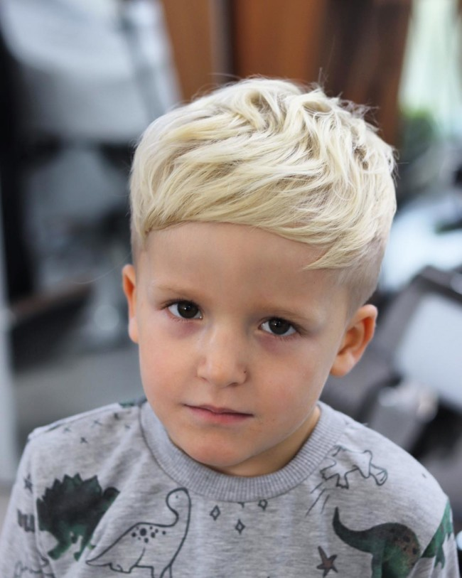 Caesar Haircut + Textured hair - New Hairstyle for Boys