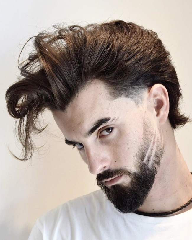 Pompadour with flow - men's haircuts