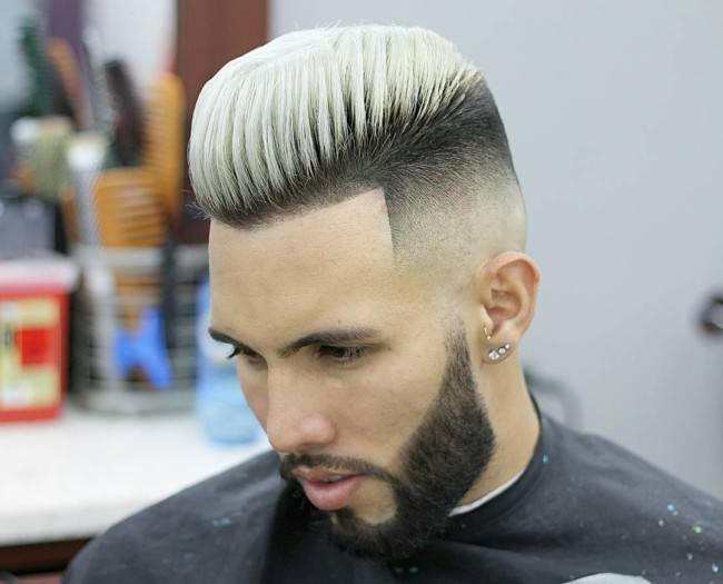 Pompadour + High Fade - Men's haircuts