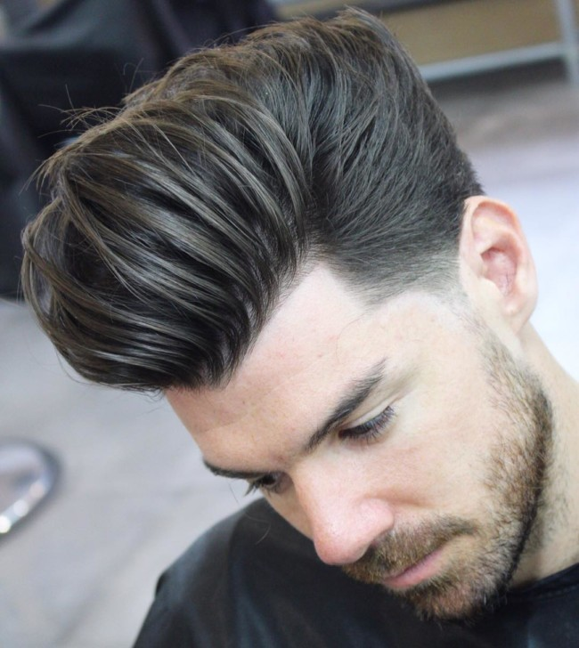 Long Textured Pompadour - men's haircuts