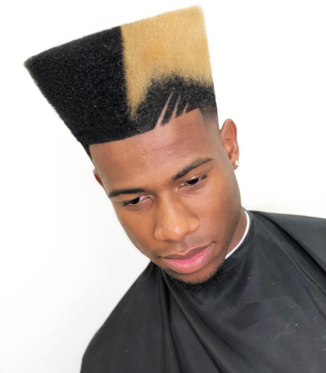 Bicolor High Top + Design - Men's haircuts