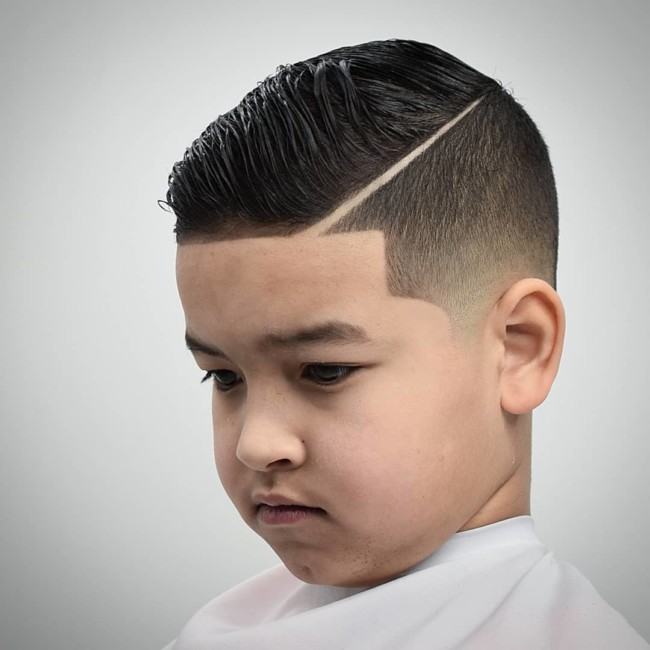 Side Part + Comb Over + Line Up  - New Hairstyle for Boys