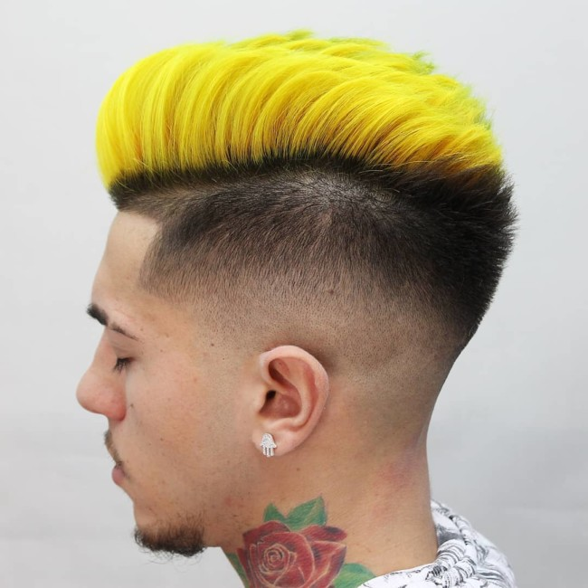 Disconnected Pompadour + Mid fade - Men's haircuts