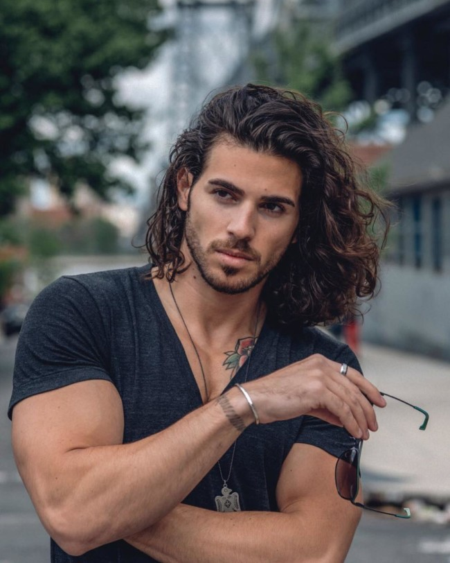 Long Curly Hair - men's haircuts
