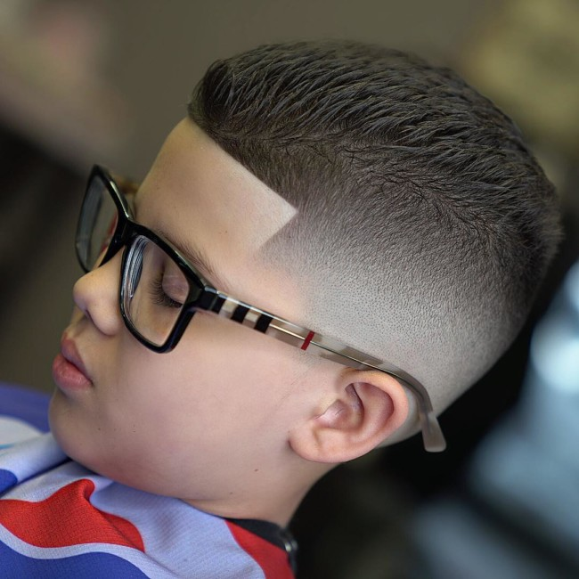 Textured Crew Cut + Blurry fade + Line up - New Hairstyle for Boys