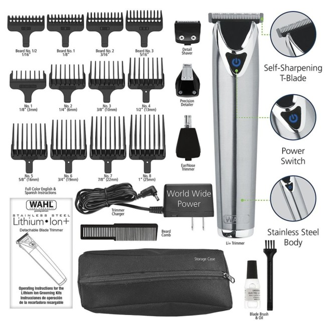 Wahl Clipper Stainless Steel Lithium Ion Plus 9818 - Men's haircuts