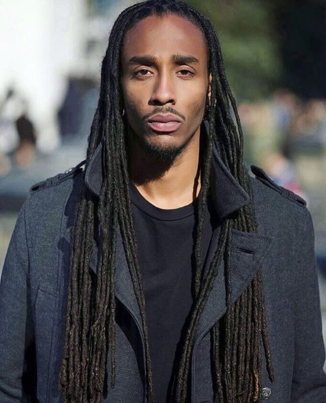 Long Thin Dreadlocks - Men's haircuts