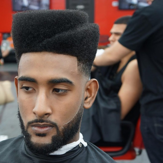 Flat top with steps - men's haircuts
