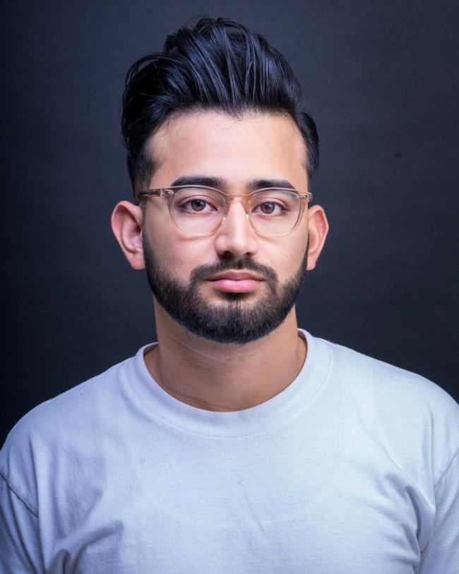 High Pompadour Textured - Men's Haircuts