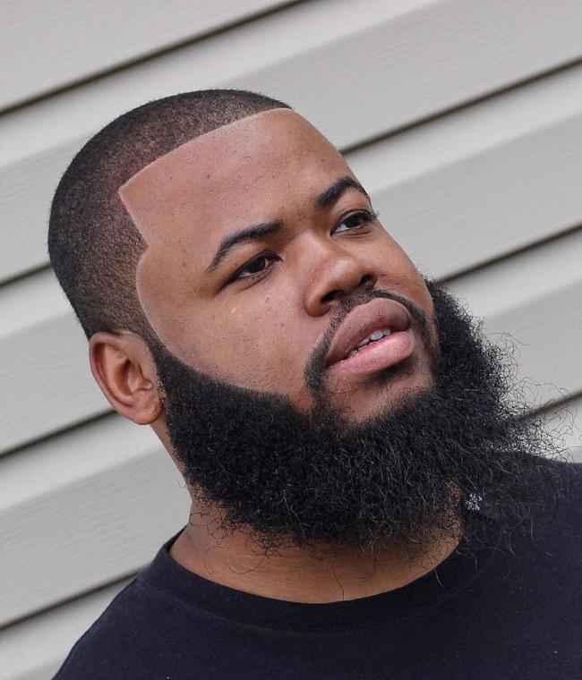 Buzz Cut + Line up + Full beard - Men's Haircuts