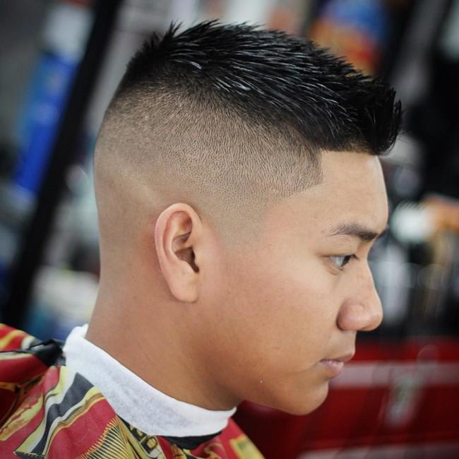 Spiky Quiff + High SKin Fade - Men's Haircuts