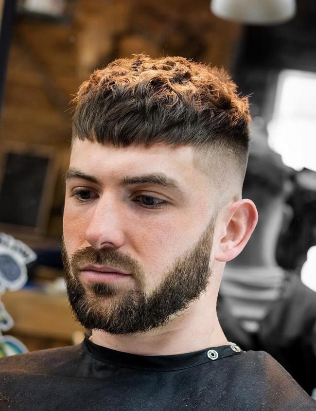 Textured Crop + High Fade + Disconnected beard - Men's Haircuts