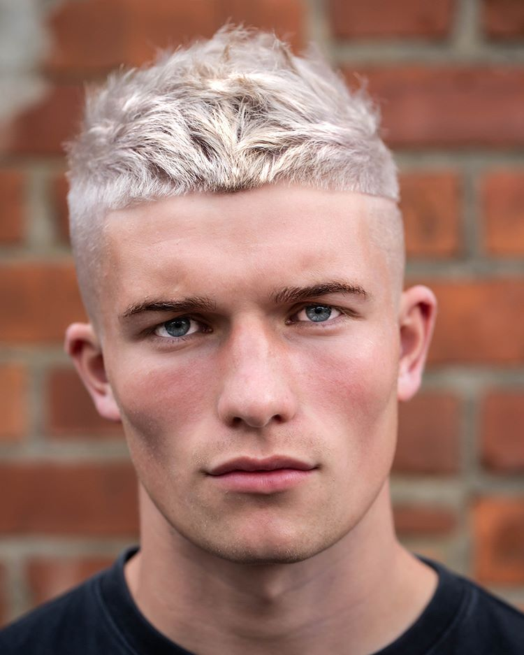 Textured Crop + Color + Hard part - Men's Haircuts
