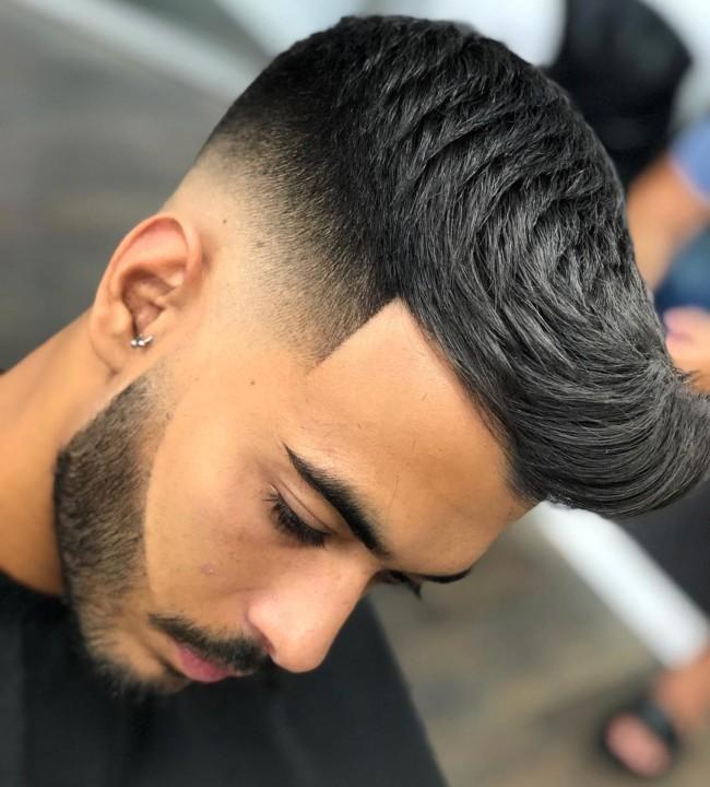 Textured Quiff + Skin Fade - Men's Haircuts
