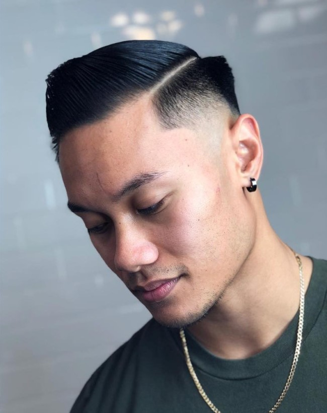 Side Part Comb Over + Mid Fade - Men's Haircuts