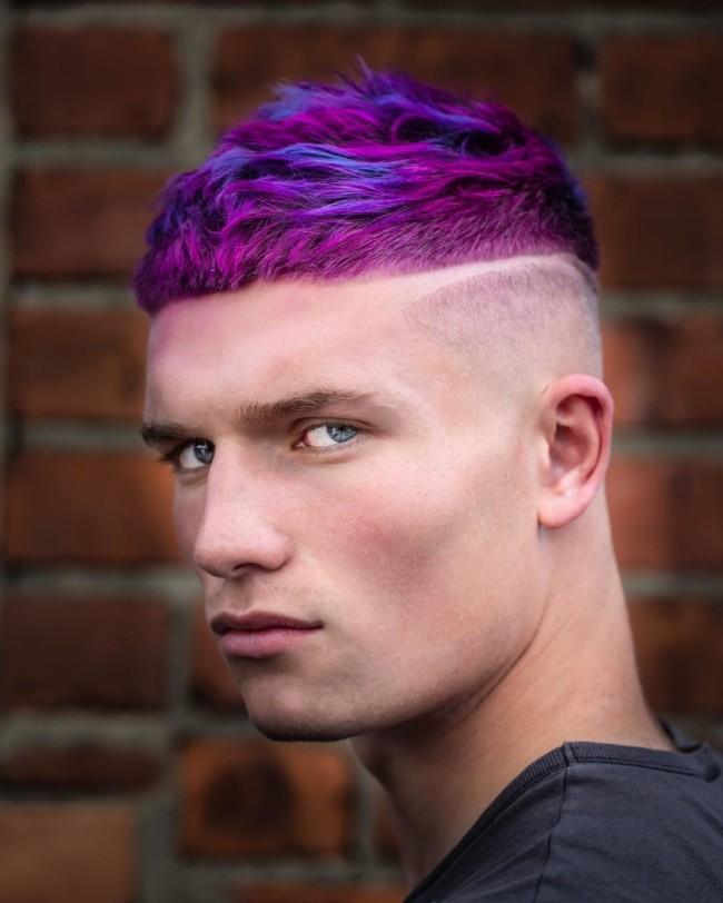 34. Textured Crop + Color - Men's Haircuts