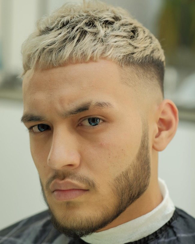Crop + Color + High Fade - Men's Haircuts