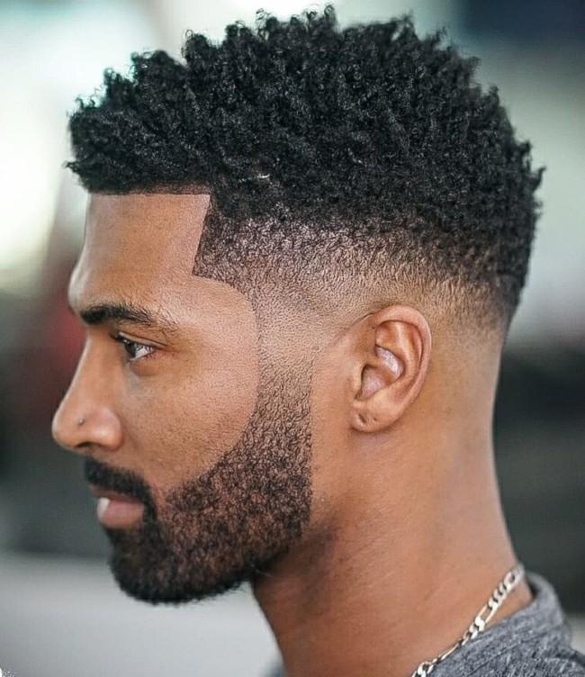 Sponge curls + Mid Fade - Men's Haircuts