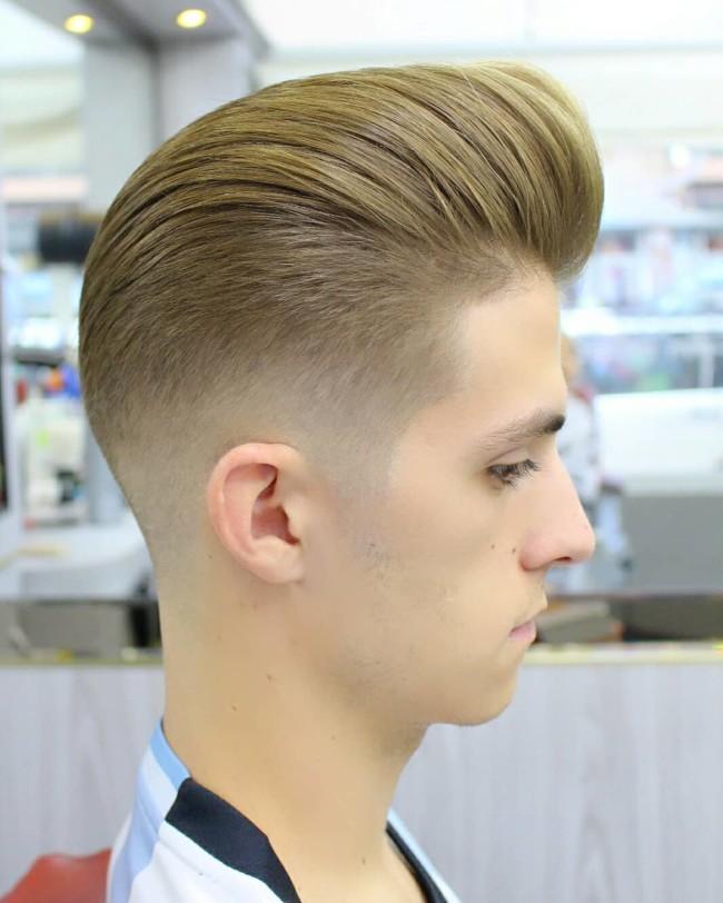 Pompadour + Mid Fade - Men's Haircuts