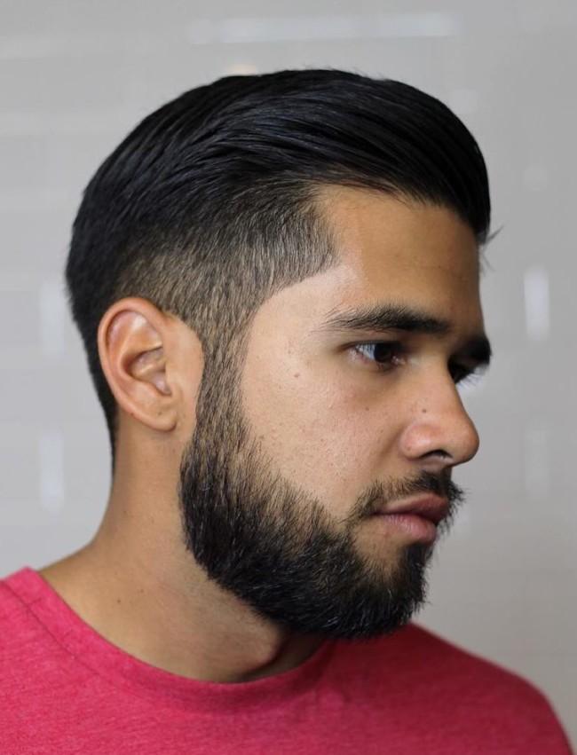 Slicked Back + Scissor Fade - Men's Haircuts