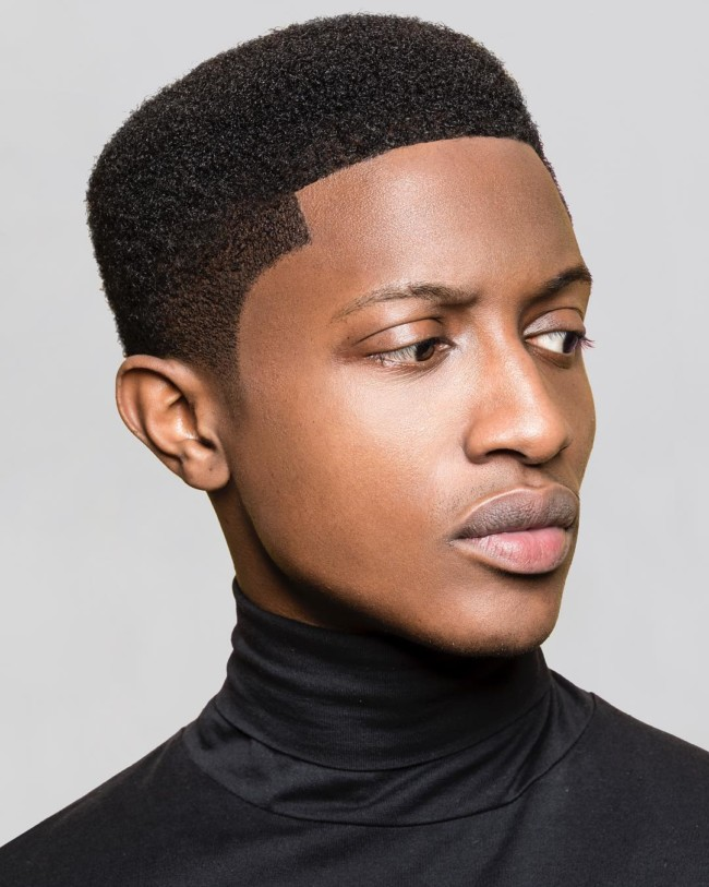 Short Afro + Line Up - Men's Haircuts
